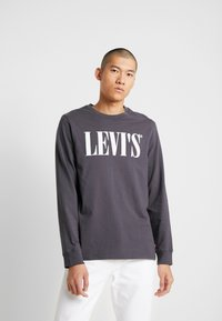 Levi's® - LS RELAXED GRAPHIC TEE - Long sleeved top - 90's serif logo ls forged iron - 0