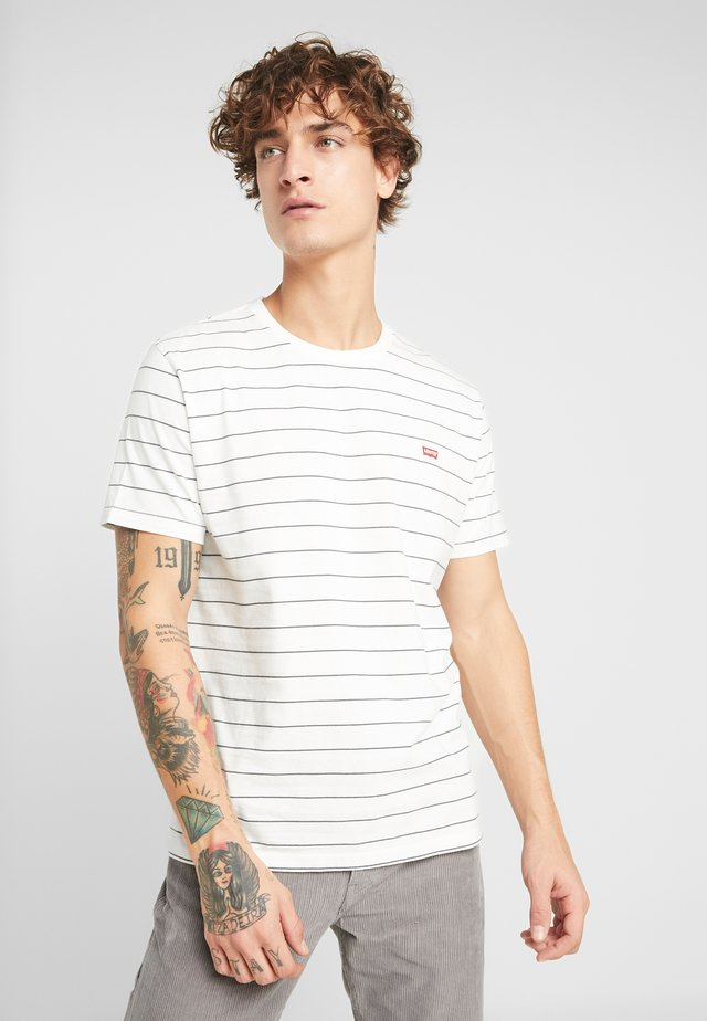 THE ORIGINAL TEE - T-shirt con stampa - marshmallow/dark slate