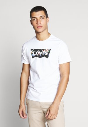 HOUSEMARK GRAPHIC TEE - Camiseta estampada - batwing white