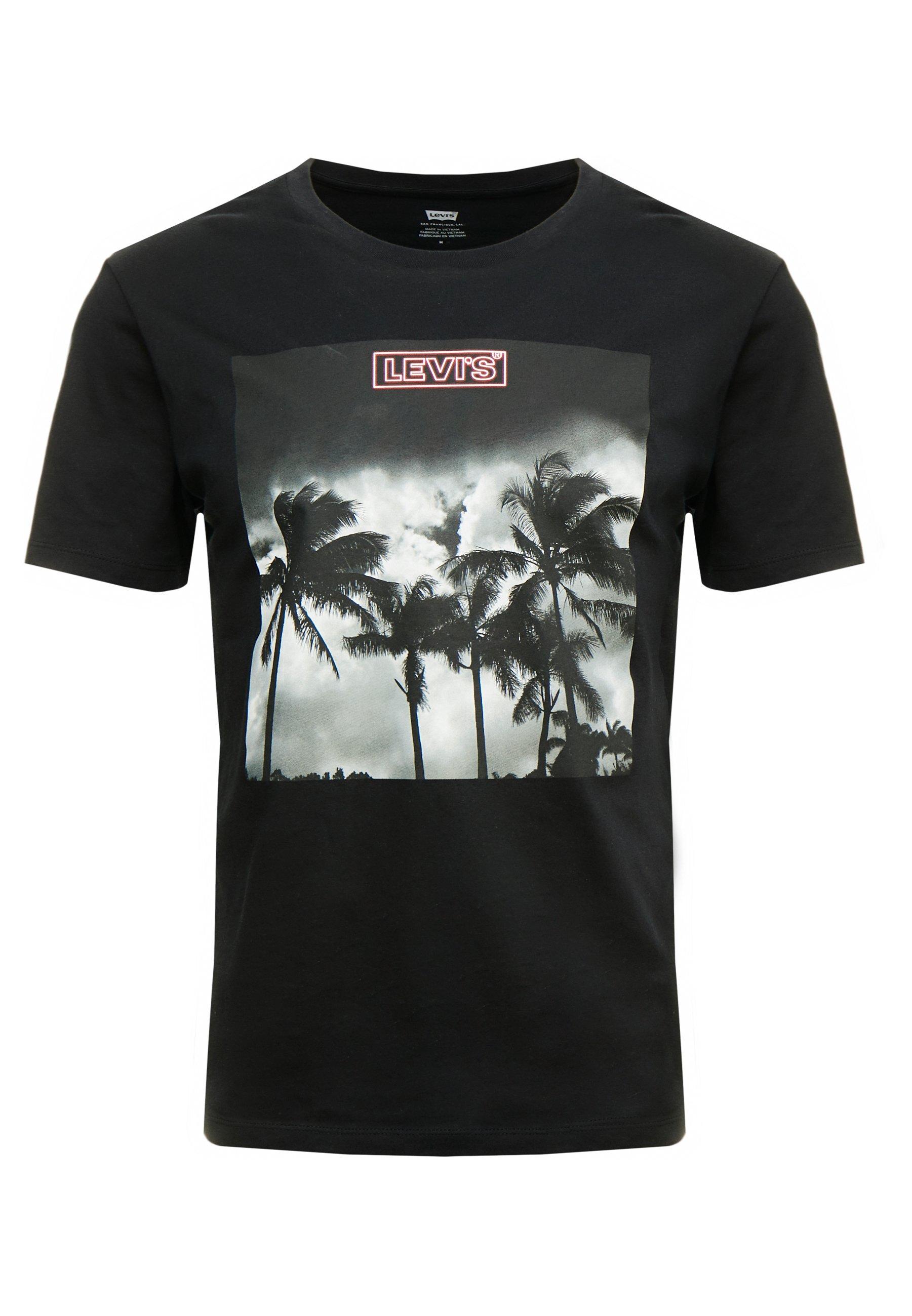 Levi's® GRAPHIC - T-shirt z nadrukiem - mineral black