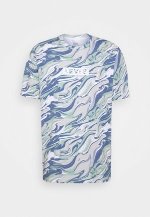 RELAXED FIT TEE - Print T-shirt - blue