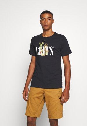 GRAPHIC CREWNECK TEE - Print T-shirt - black