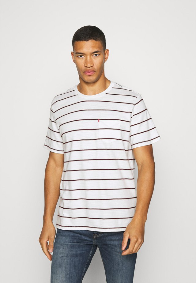 SUNSET POCKET TEE - T-shirts med print - saturday stripe tofu