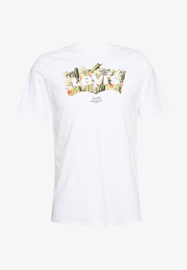 HOUSEMARK GRAPHIC TEE - T-shirts med print - cactus fill white