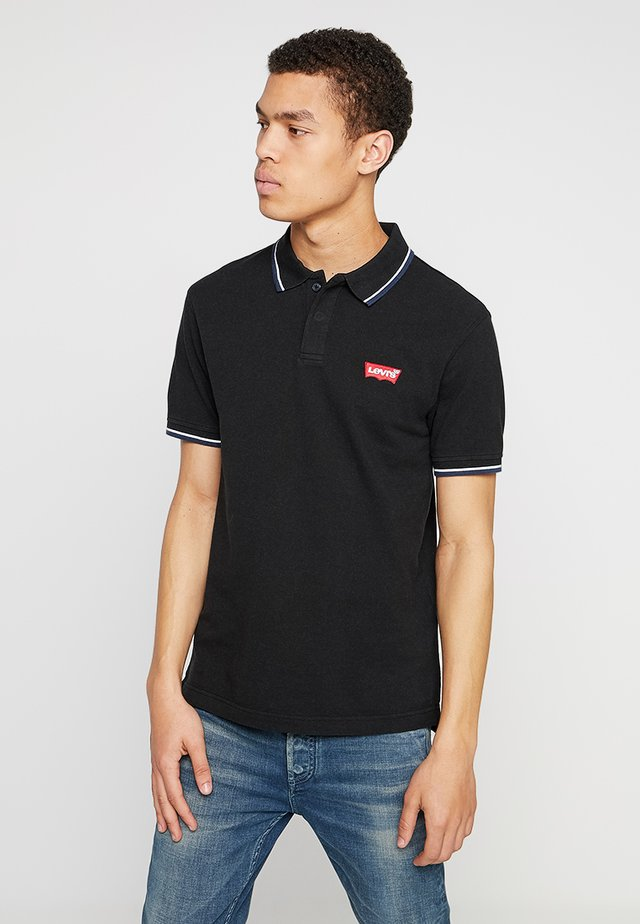 MODERN - Polo - patch mineral black