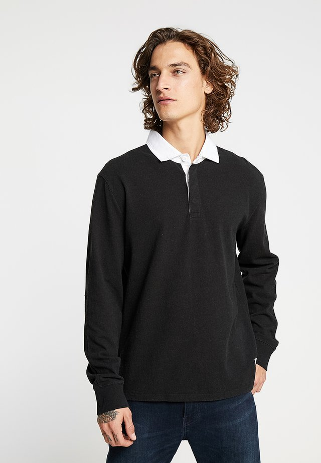MIGHTY MADE RUGBY  - Polo - tacital blocking black/black natural