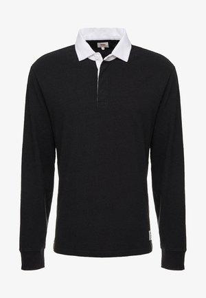 MIGHTY MADE RUGBY  - Poloshirt - tacital blocking black/black natural