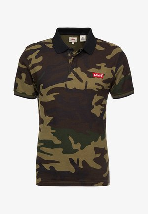 MODERN - Poloshirt - dark green/brown