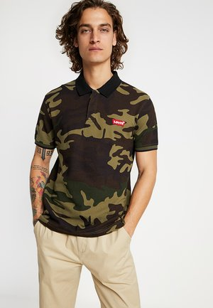 MODERN - Polo - dark green/brown
