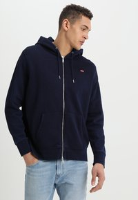 Levi's® - ORIGINAL ZIP UP HOODIE - Bluza rozpinana - dark indigo - 0