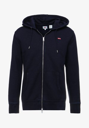 ORIGINAL ZIP UP HOODIE - Felpa aperta - dark indigo