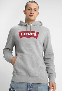Levi's® - GRAPHIC HOODIE - Sweat à capuche - midtone heather grey - 0