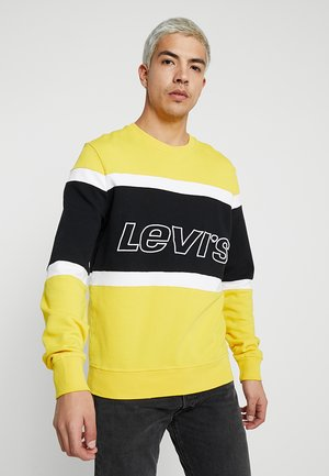 PIECED CREW - Sweater - yellow