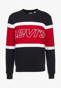 Levi's® - PIECED CREW - Felpa - black/white - 3