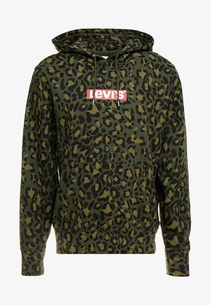 GRAPHIC  - Hoodie - bubble cheetah olive woods