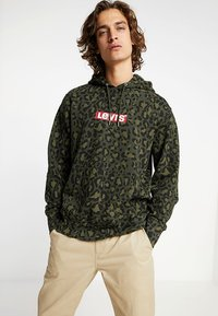 Levi's® - GRAPHIC  - Hoodie - bubble cheetah olive woods - 0