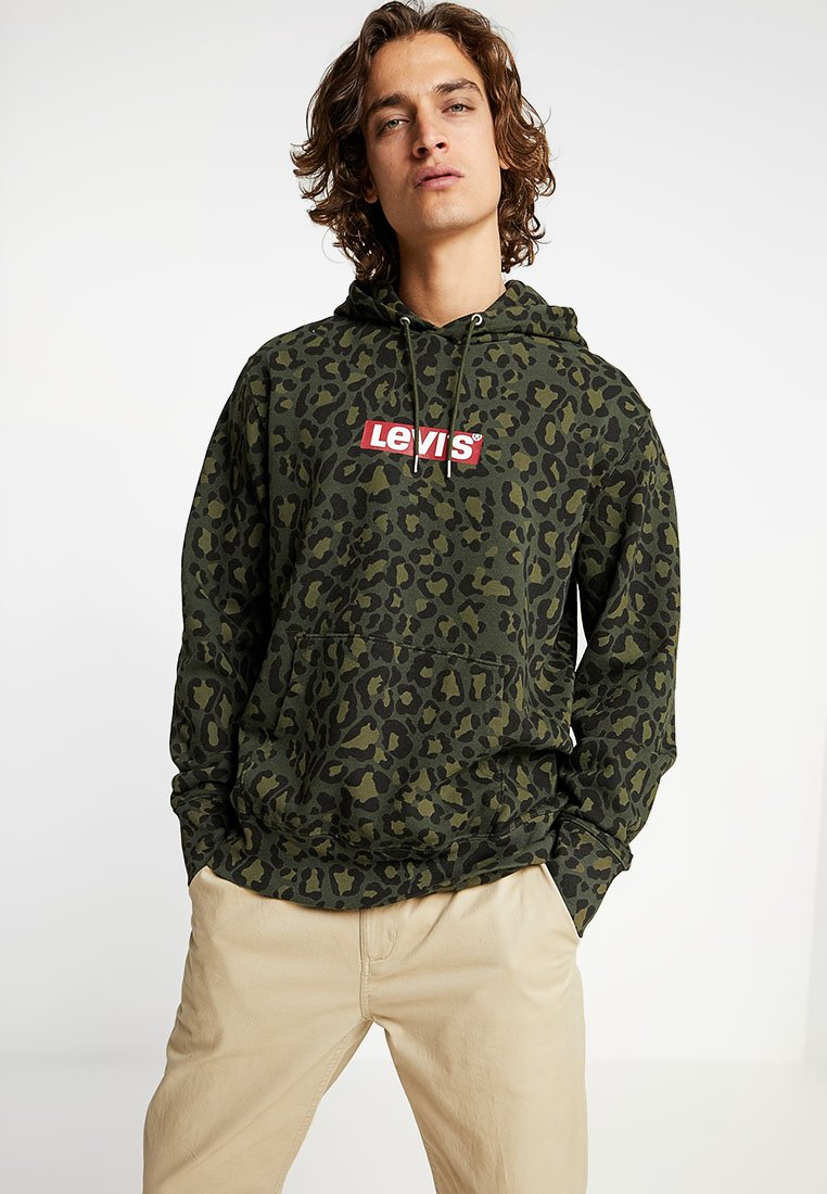 Levi's® - GRAPHIC  - Hoodie - bubble cheetah olive woods