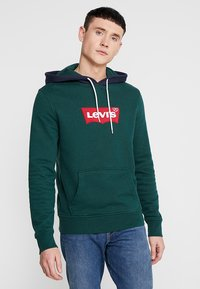 Levi's® - MODERN HOODIE - Felpa con cappuccio - pinegrove/nightwatch blue - 0