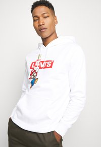 Levi's® - LEVI'S® X SUPER MARIO GRAPHIC PO HOODIE- B - Huppari - white - 3