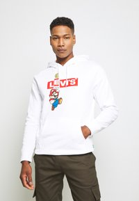 Levi's® - LEVI'S® X SUPER MARIO GRAPHIC PO HOODIE- B - Huppari - white - 0