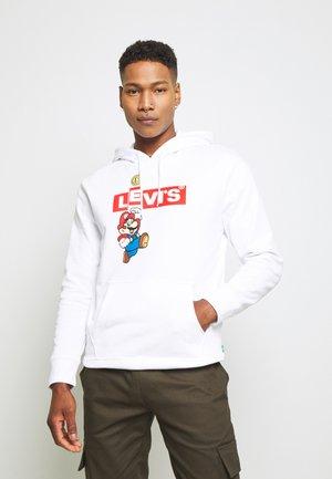 LEVI'S® X SUPER MARIO GRAPHIC PO HOODIE- B - Bluza z kapturem - white