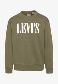 Levi's® - RELAXED GRAPHIC CREWNECK - Collegepaita - olive night - 4