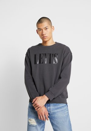 RELAXED GRAPHIC CREWNECK - Bluza - serif holiday forged iron