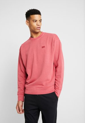 AUTHENTIC LOGO CREWNECK - Sweatshirt - earth red