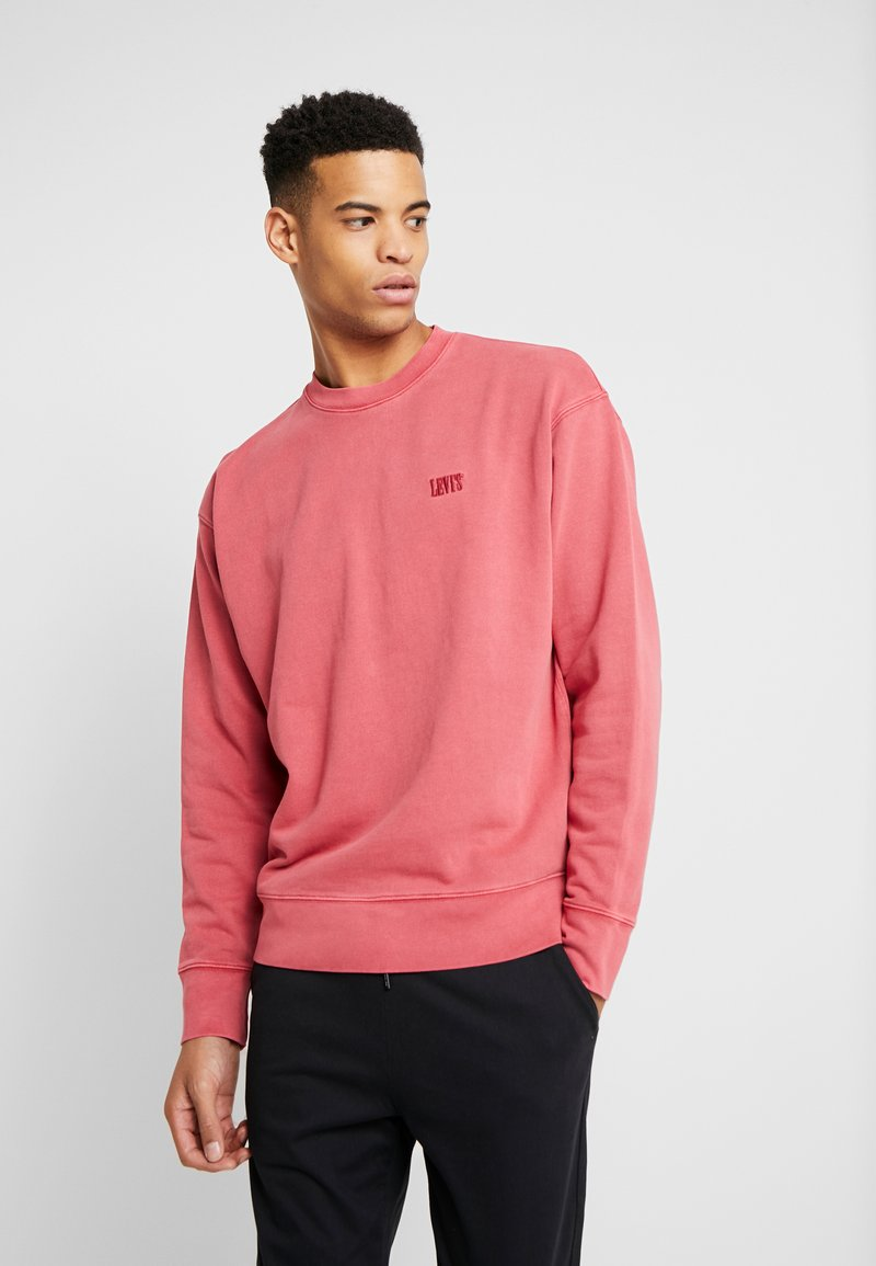 Levi's® - AUTHENTIC LOGO CREWNECK - Collegepaita - earth red
