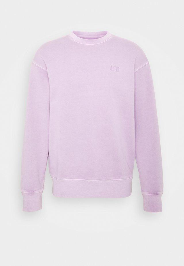 AUTHENTIC LOGO CREWNECK - Sudadera - lavender frost