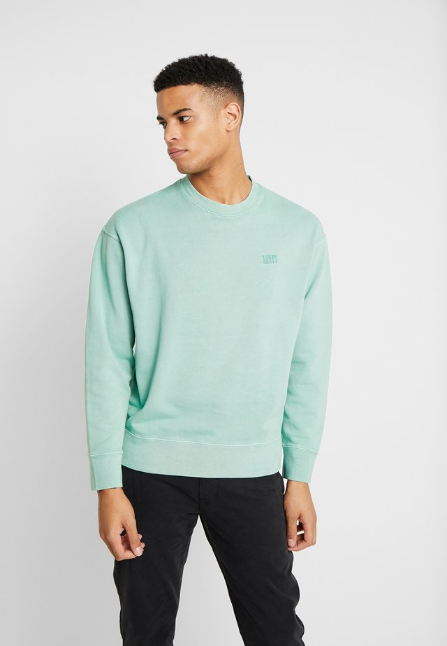 AUTHENTIC LOGO CREWNECK - Sweatshirt - creme de menthe