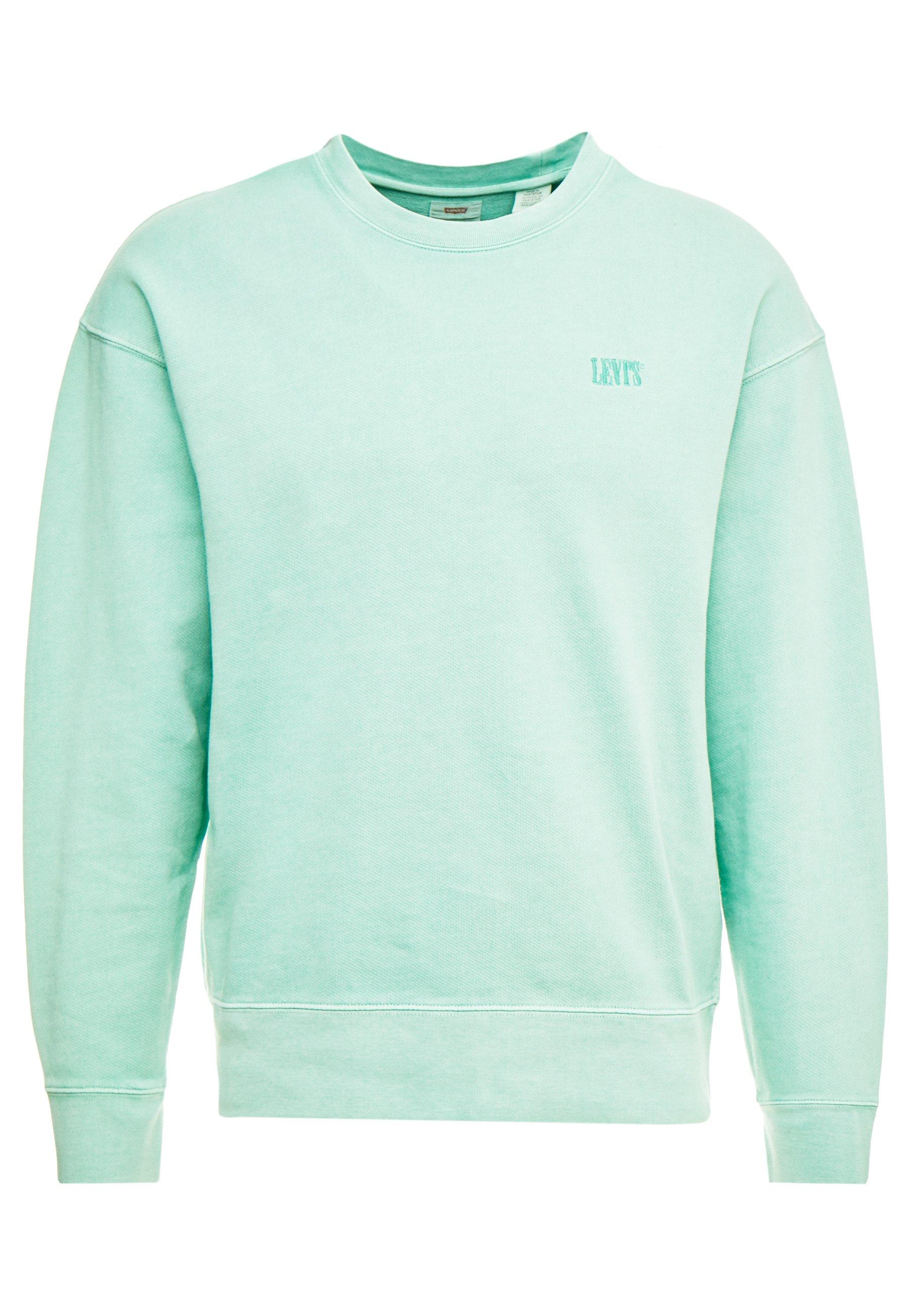 Levi's® AUTHENTIC LOGO CREWNECK - Bluza - creme de menthe