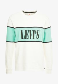 Levi's® - BORDER COLORBLOCK CREW - Sweatshirt - mineral black/creme de menthe - 3