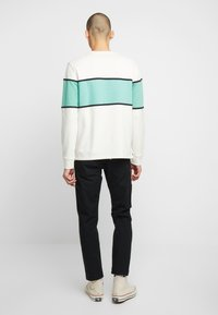 Levi's® - BORDER COLORBLOCK CREW - Sweatshirt - mineral black/creme de menthe - 2