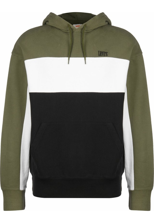 WAVY COLORBOCK HOODIE - Jersey con capucha - olive night