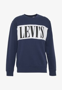 Levi's® - LOGO CREW - Bluza - white/dress blues - 4