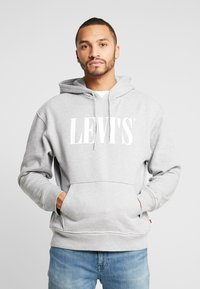 Levi's® - RELAXED GRAPHIC HOODIE - Mikina skapucí - mid tone grey heather - 0