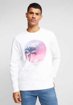 GRAPHIC CREW - Sweater - white