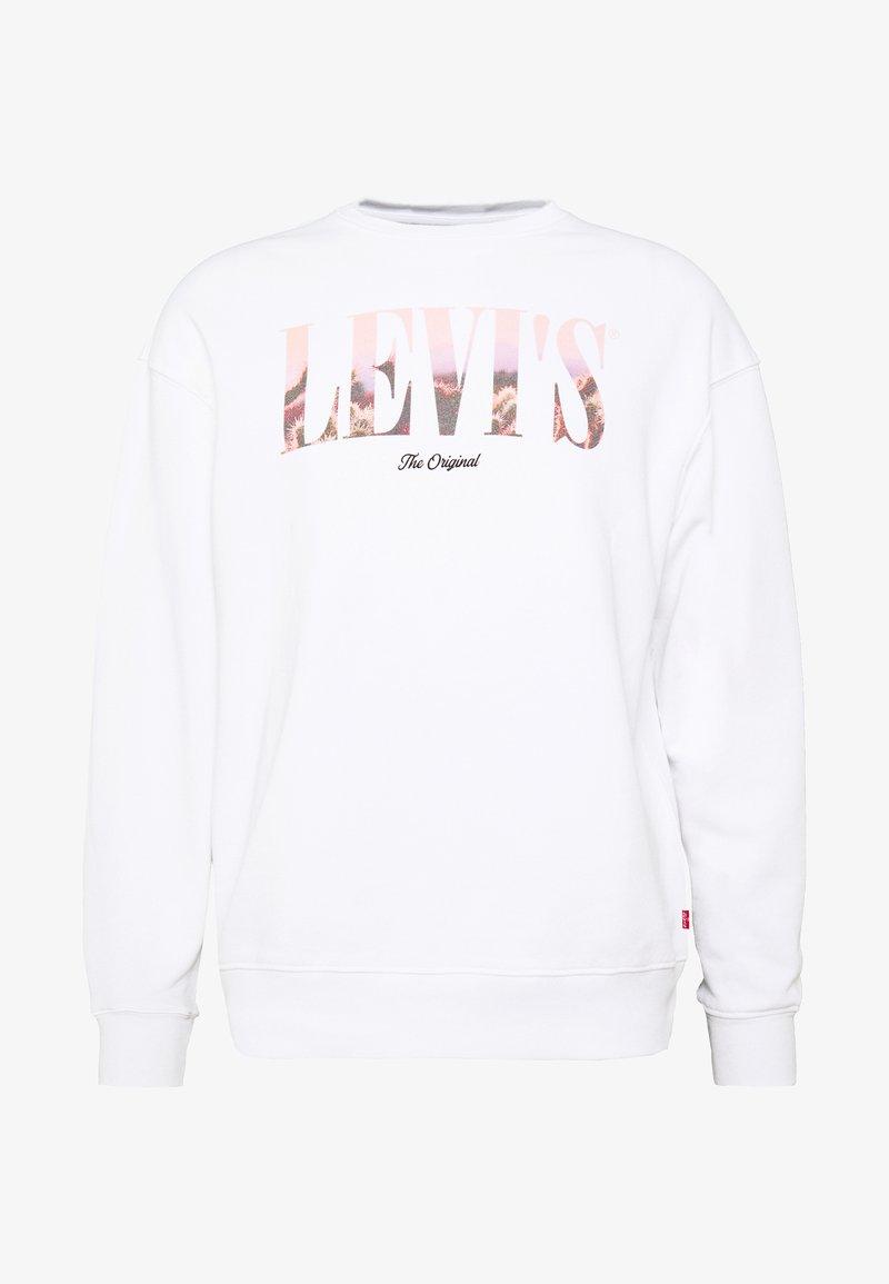 Levi's® - RELAXED GRAPHIC CREW - Sweatshirt - serif white