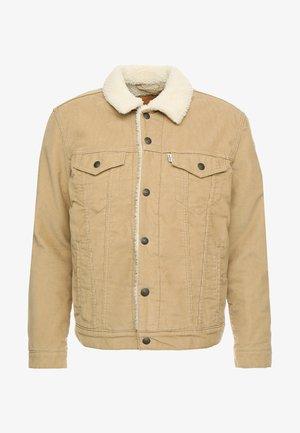 TYPE 3 SHERPA TRUCKER - Veste en jean - beige
