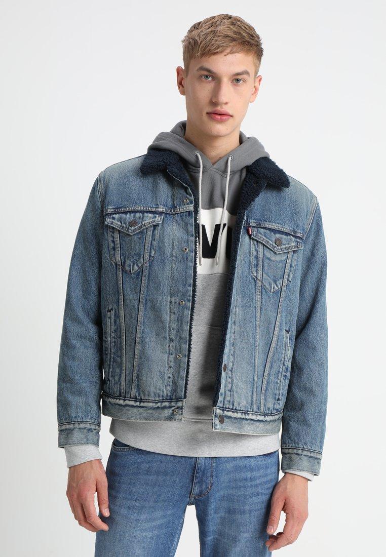 Levi's® - TYPE 3 SHERPA TRUCKER - Veste en jean - indigo lamb