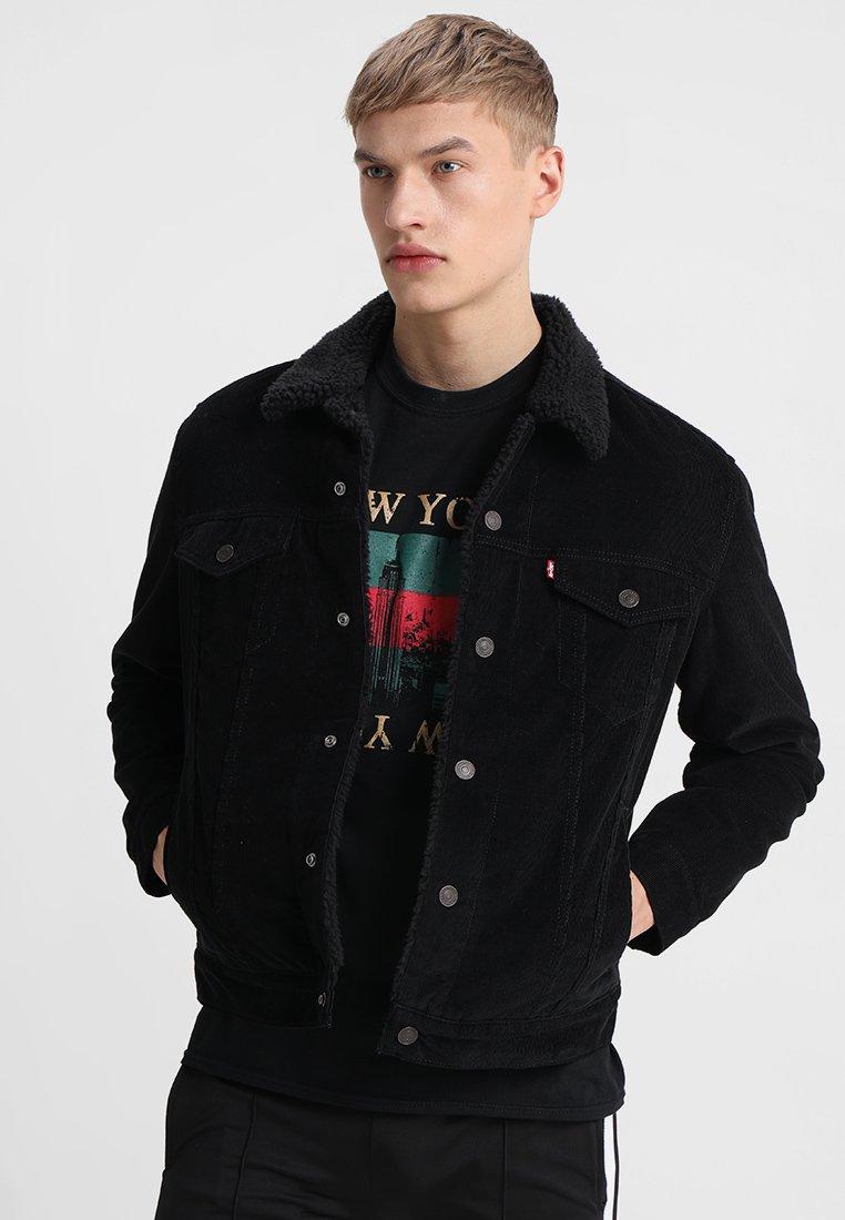 Levi's® - TYPE 3 SHERPA TRUCKER - Denim jacket - black cord better