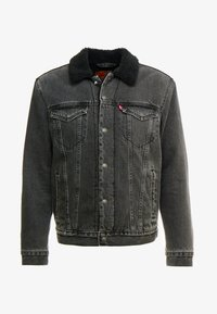 Levi's® - TYPE 3 SHERPA TRUCKER - Farkkutakki - black denim - 4