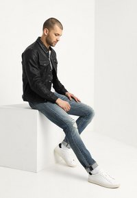 Levi's® - TRUCKER TYPE 3 - Leather jacket - black - 1