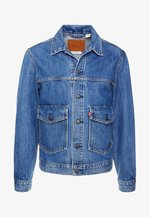 PATCH POCKET TRUCKER - Denim jacket - blue denim