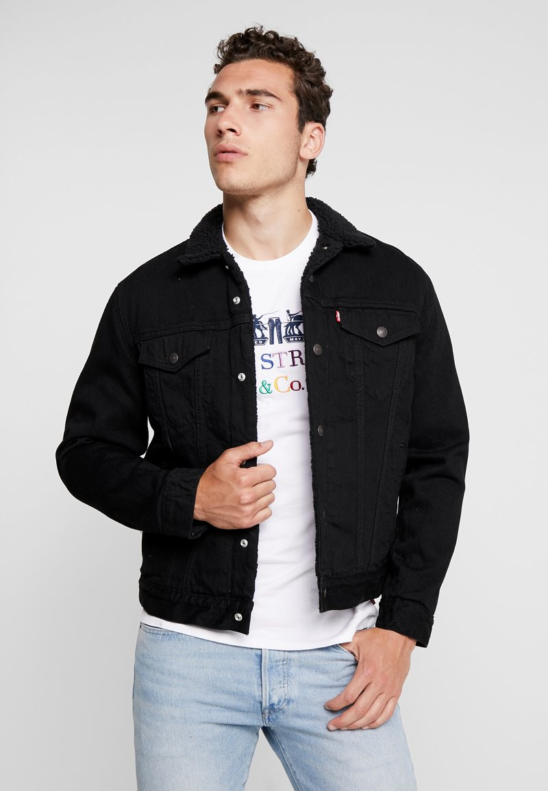 Levi's® - TYPE 3 SHERPA TRUCKER - Džínová bunda - back denim