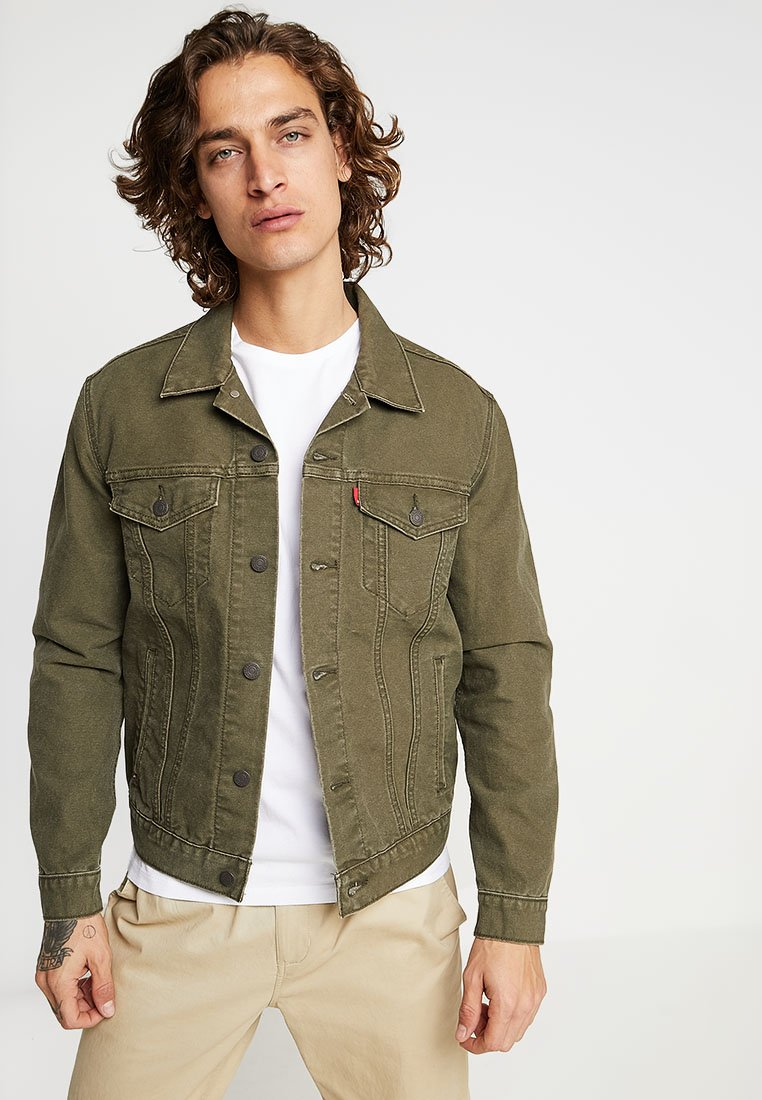 Levi's® - THE TRUCKER JACKET - Denim jacket - olive night