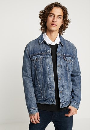 LINED TRUCKER JACKET - Jeansjacka - sequoia