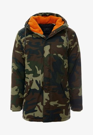 THERMORE PADDED - Light jacket - camo print with orange