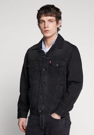 VINTAGE FIT TRUCKER UNISEX - Denim jacket - black trucker